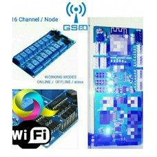 GSM + WIFI SWITCHES 16 CHANNELS / NODES  16 x 10 Amp Each