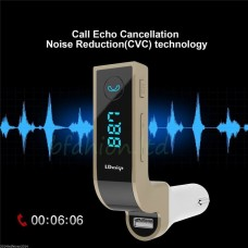 E LCD Bluetooth Car Charger FM Kit MP3 Wireless Transmitter USB Handsfree Mobile