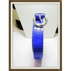 G DESIGNER BELT FOR FEMALE PATENT BLUE