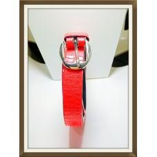 G DESIGNER BELT FOR FEMALE PATENT RED